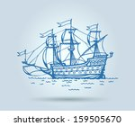 Abstract Ship  Stylization ...