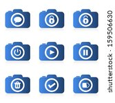 set of camera icon  vector  | Shutterstock .eps vector #159506630