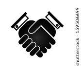 business handshake icon  black...   Shutterstock .eps vector #159506699