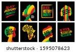 black history month grunge...   Shutterstock .eps vector #1595078623