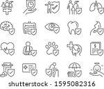 health insurance icon set.... | Shutterstock .eps vector #1595082316