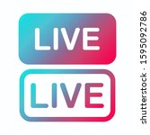 live stream web buttons. the...