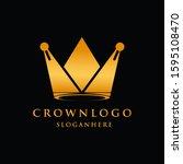 crown luxury design logo king...   Shutterstock .eps vector #1595108470