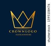 crown luxury design logo king...   Shutterstock .eps vector #1595108476