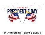 happy president's day vector...   Shutterstock .eps vector #1595116816