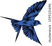 swallow vector  vector...   Shutterstock .eps vector #1595131696