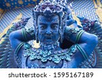Blue Statue Of The Guard In...