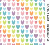 colorful heart in diagonal line.... | Shutterstock .eps vector #1595178706