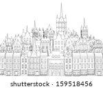 sketch of an old european city | Shutterstock . vector #159518456