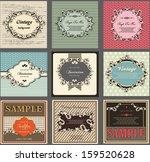 vintage labels  calligraphic... | Shutterstock .eps vector #159520628