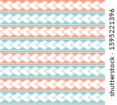 vector ethnic boho seamless... | Shutterstock .eps vector #1595221396