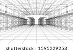drawing or sketch of a large...   Shutterstock .eps vector #1595229253