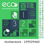 Ecology InfogFlat Infographic Elements. Vector Illustration EPS 10. - stock vector