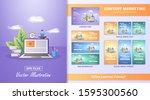 content marketing material set. ... | Shutterstock .eps vector #1595300560