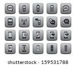 cell phone   mobile phone icons ... | Shutterstock . vector #159531788