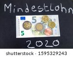 in germany the minimum wage ... | Shutterstock . vector #1595329243