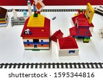 lego collections exhibition at... | Shutterstock . vector #1595344816