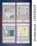 user interface elements for... | Shutterstock .eps vector #159535619