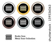 stack of books icon metal icon... | Shutterstock . vector #159536063