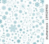 seamless pattern with...   Shutterstock .eps vector #159539903