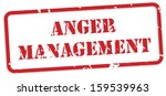 anger management red rubber... | Shutterstock .eps vector #159539963