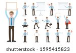 set of working people on white... | Shutterstock .eps vector #1595415823