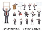 set of working people on white... | Shutterstock .eps vector #1595415826