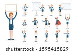 set of working people on white... | Shutterstock .eps vector #1595415829