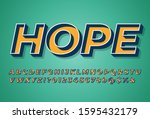 bright 3d font typeface  retro...   Shutterstock .eps vector #1595432179