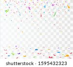 color confetti isolated on... | Shutterstock .eps vector #1595432323