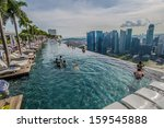 singapore   september 11   pool ... | Shutterstock . vector #159545888