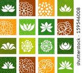 flower icons | Shutterstock .eps vector #159546008