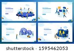 trendy flat illustration. set... | Shutterstock .eps vector #1595462053