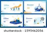 trendy flat illustration. set... | Shutterstock .eps vector #1595462056