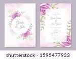 elegant wedding card invitation ... | Shutterstock .eps vector #1595477923