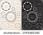 high quality luxury frame... | Shutterstock .eps vector #1595485180