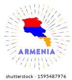 armenia sunburst badge. the... | Shutterstock .eps vector #1595487976