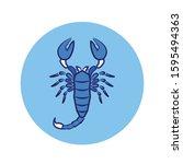 scorpio color line icon. zodiac ...