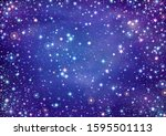 illustration of starry sky with ... | Shutterstock .eps vector #1595501113