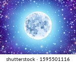 illustration of starry sky with ... | Shutterstock .eps vector #1595501116