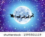 illustration santa claus... | Shutterstock .eps vector #1595501119