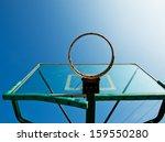 basketball hoop against blue... | Shutterstock . vector #159550280