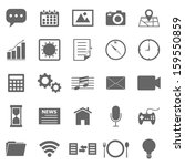 application icons on white... | Shutterstock .eps vector #159550859