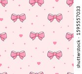 Seamless Pattern With Pink Bows ...