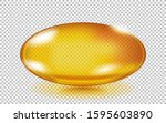 Gold Fish Oil Pill Isolated On...