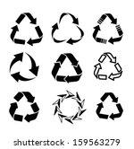 recycle set vector | Shutterstock .eps vector #159563279