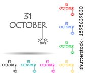 31 october decorative word...