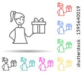 gift multi color style icon....