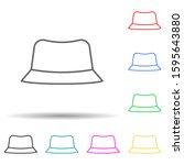 panama multi color style icon....