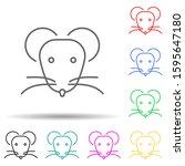 rat multi color style icon....